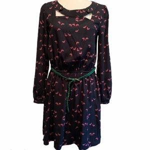 Skies are blue long sleeve dress with pink ducks